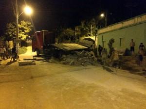 Foto: Paco Martins / Acidente registrado durante a noite de sexta-feira(16) em Tucuruí.