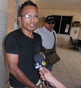 Foto: Paco Martins/Jorge dos Santos, em entrevista na delegacia de polícia civil de Tucuruí