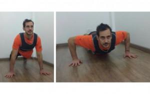 Divulgação Mantenha a postura durante a flexão de braço, sem empinar o bumbum