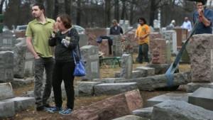 O cemitário Chesed Shel Emeth, em Saint Louis, foi vandalizado em 20 de fevereiro