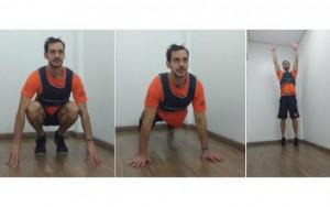 Divulgação Finalize o burpee com um salto para ter ainda esforço no exercício