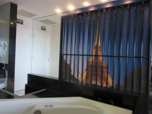 Visão da banheira de hidromassagem (Foto: Letícia Carvalho/G1)
