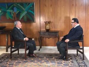© Reprodução de trecho da entrevista cedida pelo SBT Ratinho entrevista Michel Temer sobre Lava-Jato, reforma trabalhista e da Previdência.